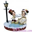 Disney Victorian Mickey and Minnie Skating Christmas Medium Big Fig by Disney Artist Costa Alavezos