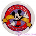 Disneyland Classic Mickey Pin Trading Logo Cast Exclusive Button