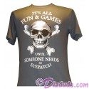 Disney's Pirates of the Caribbean Its All Fun & Games ... Until Someone Needs An Eyepatch T-shirt (Tee, Tshirt or T shirt)