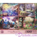 Disney World Princesses Four 500 Piece Thomas Kinkade Jigsaw Puzzles