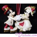 Disney Victorian Mickey and Minnie Skating Christmas Ornament