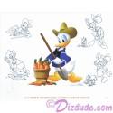 Donald Passholder Lithograph Poster by Disney Artist Don Ducky Williams (MARCH) - Disney Epcot International Flower & Garden Festival 2016