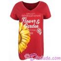 Disney Epcot International Flower & Garden Festival 2018 V-neck Ladies T-shirt (Tee, Tshirt or T shirt)