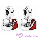 Disney Pandora Mickey and Minnie Sterling Silver Heart Charm