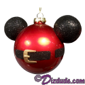 Disney Mickey Mouse Ears Santa Jacket Christmas Tree Ornament