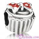 "Disney Pandora ""Minnie Bow Cupcake"" Sterling Silver Charm"