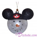 Disney Snowman Wearing Mickey Mouse Ears Christmas Tree Ornament