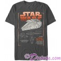 SOLO A Star Wars Story The Millennium Falcon Schematics Adult T-Shirt (Tshirt, T shirt or Tee)