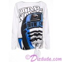 R2-D2 Bling Tie Front T-Shirt (Tshirt, T shirt or Tee) Disney Star Wars: The Last Jedi