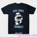Stormtrooper Here Comes Trouble Youth T-shirt  (Tee, Tshirt or T shirt) - Disney Star Wars
