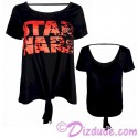 Disney Star Wars: The Last Jedi Tie Front T-shirt (T-Shirt, Tshirt, T shirt or Tee)