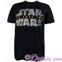 Disney Star Wars Episode VIII: The Last Jedi Foil Title Logo Adult T-Shirt (Tshirt, T shirt or Tee)