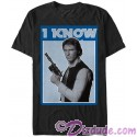 "Star Wars Han Solo Famous Love Quote ""I Know"" Adult T-Shirt (Tshirt, T shirt or Tee)"