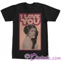 "Star Wars Princess Leia Famous Love Quote ""I Love You"" Adult T-Shirt (Tshirt, T shirt or Tee)"