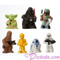 Disney Star Wars Toddlers 7 Piece Playset with Chewbacca, C-3PO, R2-D2, Yoda, Darth Vader, Clone Trooper & Boba Fett