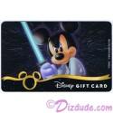 Star Wars Gift Card with Mickey Mouse as Luke Skywalker ~ Disney Star Wars Weekends 2013