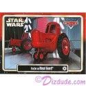 """Disney Pixar """"Cars"""" as LucasFilms """"Star Wars"""" Character Tractor as a Royal Guard Trading Card Series 3 for Star Wars Weekends 2015"""
