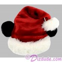 Disney Santa Mickey Mouse Ears Soft Plush Hat