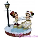Disney Victorian Mickey and Minnie Skating Christmas Medium Big Fig by Disney Artist Costa Alavezos