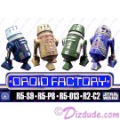 4 Droid set from The Clone Wars - Disney World Astromech DROID FACTORY Action Figures 3¾ Inch 4 Droid Multi-Pack with R5-S9 R5-P8 R5-013 & R2-C2 © Dizdude.com