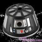 Black R6  Dome Part ~ Disney Star Wars Astromech Build-A-Droid Factory © Dizdude.com
