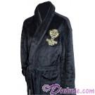 Hollywood Tower Hotel Black Plush Robe (Bathrobe) ~ Disney's Hollywood Studios ~ Twilight Zone Tower of Terror ride