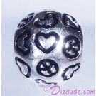 "Disney Pandora ""Peace, Love & Mickey"" Sterling Silver Charm - Disney World Parks Exclusive"