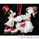 Disney Victorian Mickey and Minnie Skating Christmas Ornament © Dizdude.com
