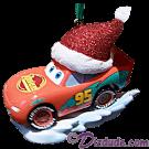 "Front of the Disney Pixar ""Cars"" Lightning McQueen Christmas Ornament © Dizdude.com"