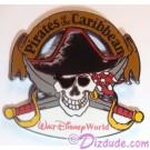 WDW Pirates of the Caribbean Skull & Cross Swords Pin