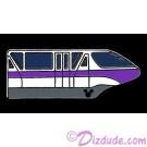 Walt Disney World Cast Lanyard Series 4 ~ Monorails - Purple Pin with Hidden Mickey © Dizdude.com