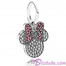 "Disney Pandora ""Sparkling Minnie Icon"" Sterling Silver Charm with Cubic Zirconias"