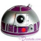 R2 Silver & Purple Astromech Droid Dome ~ Series 2 from Disney Star Wars Build-A-Droid Factory © Dizdude.com