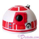 R2 White & Red Astromech Droid Dome ~ Series 2 from Disney Star Wars Build-A-Droid Factory © Dizdude.com