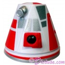 R4 White & Red Astromech Droid Dome ~ Series 2 from Disney Star Wars Build-A-Droid Factory © Dizdude.com