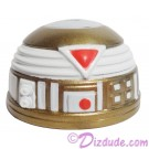 R7 White & Gold Astromech Droid Dome ~ Series 2 from Disney Star Wars Build-A-Droid Factory © Dizdude.com