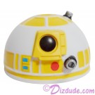 White & Yellow Astromech Droid Dome ~ Series 2 from Disney Star Wars Build-A-Droid Factory © Dizdude.com