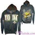 Yoda Sketch Hoodie Adult Printed Front and Back - Disney Star Wars © Dizdude.com