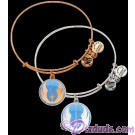 Jedi Order Antiqued Rafaelian Gold or Silver Finished Star Wars Adjustable Charm Bangle - by Alex & Ani