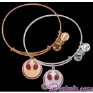 Rebel Alliance Antiqued Rafaelian Gold or Silver Finished Star Wars Adjustable Charm Bangle - by Alex & Ani