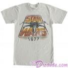 Disney Star Wars 1977 Vintage Styled Adult T-Shirt (Tshirt, T shirt or Tee) © Dizdude.com