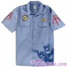 Disney Star Wars Jango or Boba Fett Blue Collar Work Adult Shirt © Dizdude.com