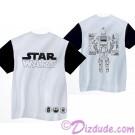 Disney Star Wars C-3PO Mesh Adult Shirt (T-Shirt, Tshirt, T shirt or Tee) Printed Front, Back and Sleeves © Dizdude.com