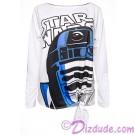 R2-D2 Bling Tie Front T-Shirt (T-Shirt, Tshirt, T shirt or Tee) Disney Star Wars: The Last Jedi © Dizdude.com