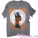"Disney Star Wars Princess Leia ""I Love You"" Adult T-Shirt (Tshirt, T shirt or Tee) © Dizdude.com"