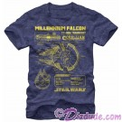 Star Wars Millennium Falcon Schematics Adult T-Shirt (Tshirt, T shirt or Tee) © Dizdude.com