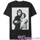 Star Wars Luke and Leia Grayscale Adult T-Shirt (Tshirt, T shirt or Tee) © Dizdude.com