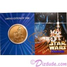 Disney Star Wars Weekends Bronze Coin Front Autographed by Warrick Davis (Wicket) © Dizdude.com