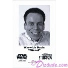 Warwick Davis who played The Ewok Wicket W. Warrick Presigned Official Star Wars Weekends 2008 Celebrity Collector Photo © Dizdude.com