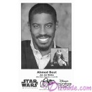 Ahmed Best who played Jar Jar Binks Presigned Official Star Wars Weekends 2014 Celebrity Collector Photo © Dizdude.com
